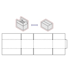Horizontal box template packing Simple vector image