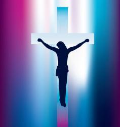 Jesus on cross vector image vector image