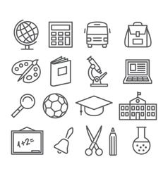 School and Education Line Icons vector image vector image