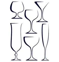 Stylized glasses vector image