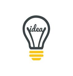 stylized sign of lightbulb logotype new idea vector image vector image
