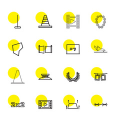 16 border icons vector image