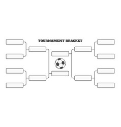 8 soccer team tournament bracket championship vector