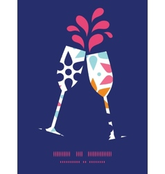 Abstract colorful stars toasting wine vector