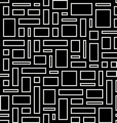 Abstract geometric seamless pattern White empty vector image