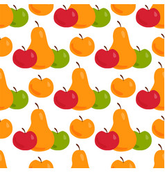 apple background pear textile vector image