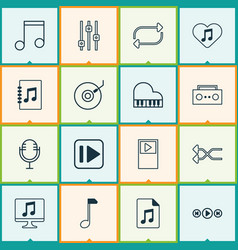 Audio icons set collection of stabilizer vector