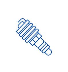 auto spark line icon concept auto spark flat vector image