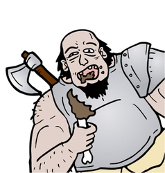 Barbarian eating vector