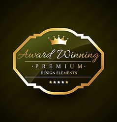 beautiful award winning golden label vector image