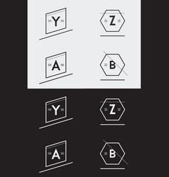 big set minimal geometric lined template vector image