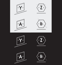 big set of minimal geometric lined template for vector image
