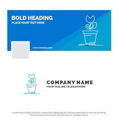 Blue business logo template for adventure game vector