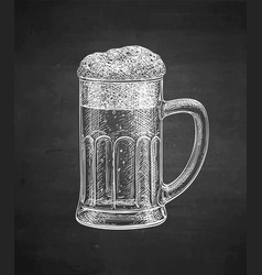 Chalk sketch beer mug vector