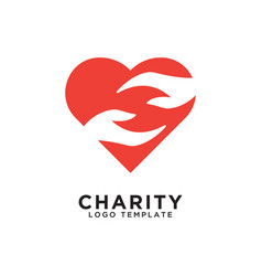 Charity logo design template vector
