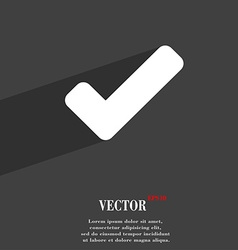 Check mark tik icon symbol Flat modern web design vector