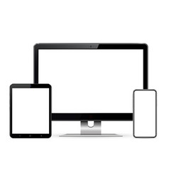 computer screen tablet phone vector image
