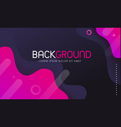 Creative abstract modern fluid background vector