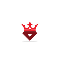 Crown king triangle logo vector