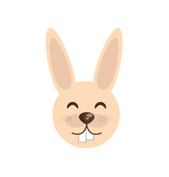cute face rabbit animal cheerful vector image