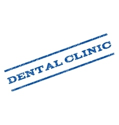 Dental clinic watermark stamp vector