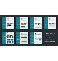 design of a flat interface vector image vector image