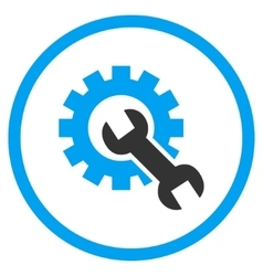 Developer Tools Flat Rounded Icon vector