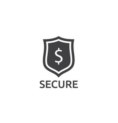 dollar shield icon money security protection vector image