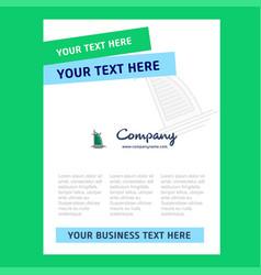 dubai hotel title page design for company profile vector image