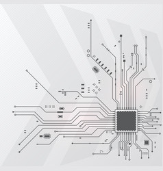 Electrical circuit on a white background vector