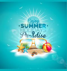 enjoy summer holiday vector image