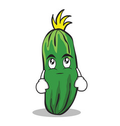 Eye roll cucumber character cartoon collection vector