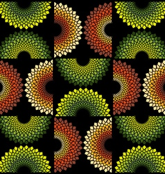 fabric circle pattern vector image
