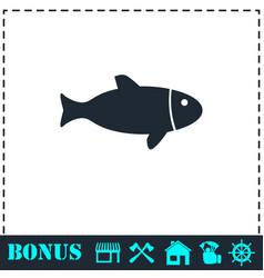 fish icon flat vector image