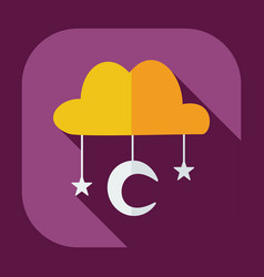 Flat modern design with shadow icons muslim heaven vector