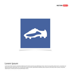 Football boot icon - blue photo frame vector