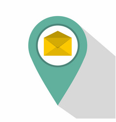 geo tag mail icon flat style vector image