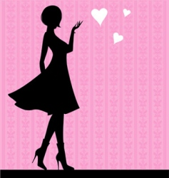 girl love vector image