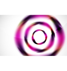Glossy blurred swirl circle shapes abstract vector image