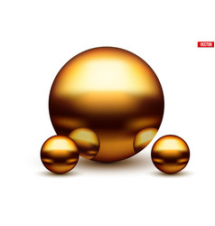 golden balls with reflection vector image