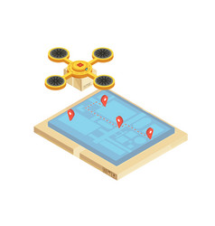 goods delivery tracking isometric vector image