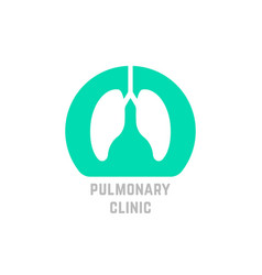 Green simple pulmonary clinic logo vector
