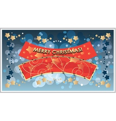 greetings Template Merry Christmas vector image