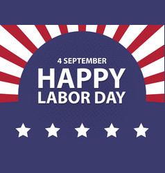 Happy labor day usa retro vintage poster with vector