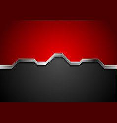 Hi-tech abstract red and black background with vector