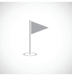 Hole Course black icon vector