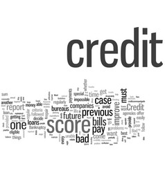 improve you credit scores the easy way vector image
