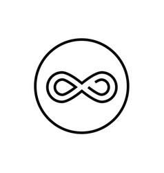 Infinity sign - line design single isolated icon vector