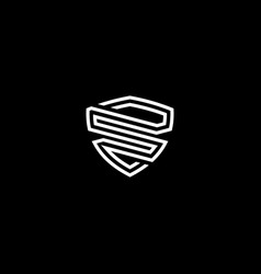 initial letter s logo template with shield vector image