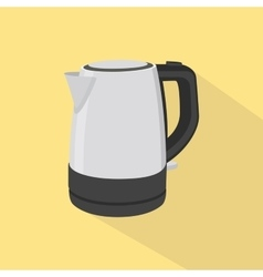 kettle single isolated oibject with yellow vector image